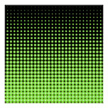Abstract Retro Green and Black Halftone Background Poster