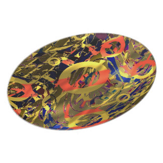 Abstract Retro Pop Art Party Plates
