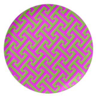 Abstract: Retro Vintage Pop Art Party Plates