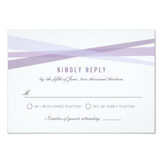 Abstract Ribbons Wedding Response Card