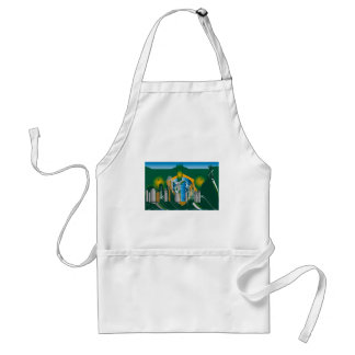 abstract Rio skyline Aprons