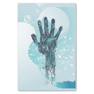 Abstract Robot Hand Tissue Paper