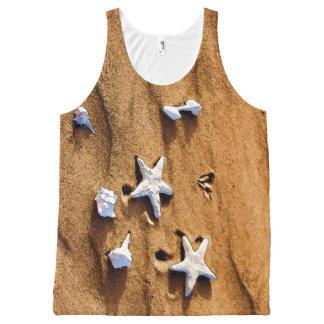 Abstract Seashells On Sand Top All-Over Print Tank Top