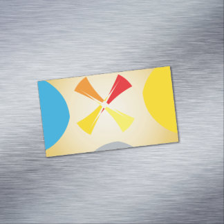 Abstract Shapes Magnetic Business Cards