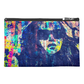 Abstract silhouette of a woman cosmetic bag