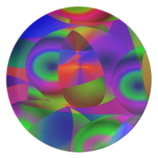Abstract Spheres Plate