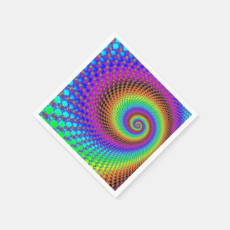 Abstract Spiral Fractal Disposable Napkin