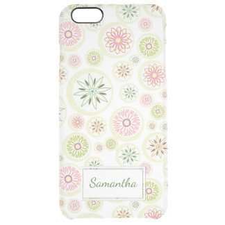 Abstract Spring Flowers Clear iPhone 6 Plus Case