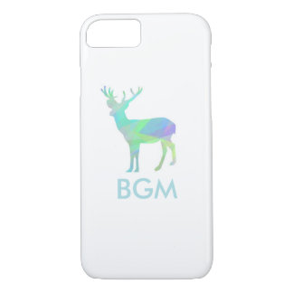 Abstract Stag Case with Monogram