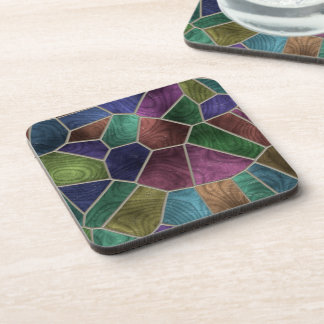 Abstract Stained Glass Coaster