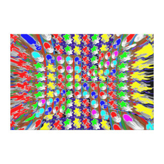 Abstract Stars Moons Waves Sparkle Decorative gift Canvas Print