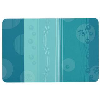 Abstract Stripe Nautical Modern Blue Pattern Floor Mat
