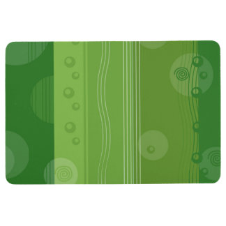 Abstract Stripe Nautical Modern Green Pattern Floor Mat