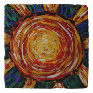 Abstract Sun Colors In Motion Trivet