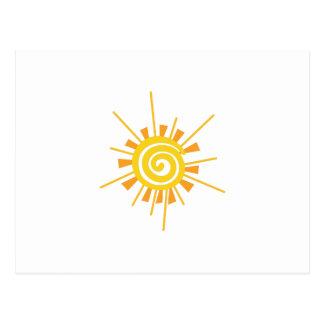 Abstract Sun Postcard