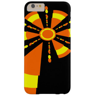 Abstract sun yellow and orange barely there iPhone 6 plus case