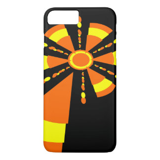 Abstract sun yellow and orange iPhone 7 plus case
