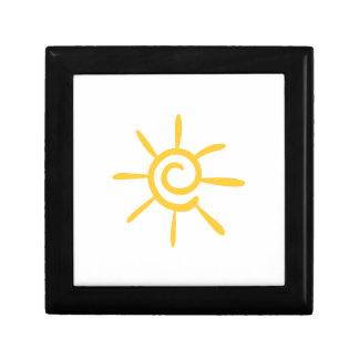 Abstract Sunshine Small Square Gift Box