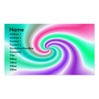 abstract swirl business card