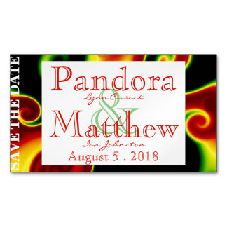 Abstract Swirls Save the Date Magnets Magnetic Business Cards