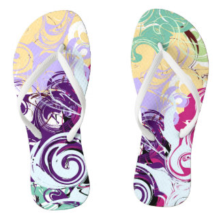 Abstract Swirls Thongs