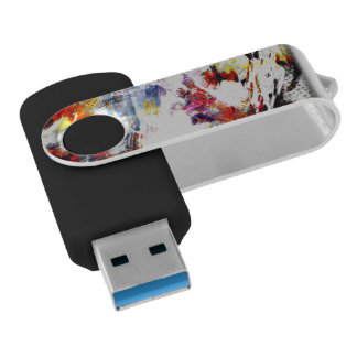 Abstract Swivel USB Drive