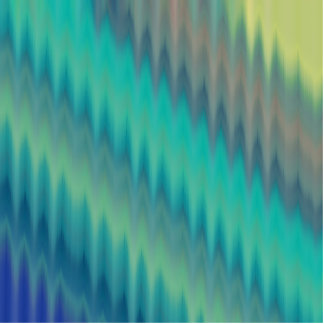 Abstract Teal Green Ikat Chevron Zigzag Photo Cut Out