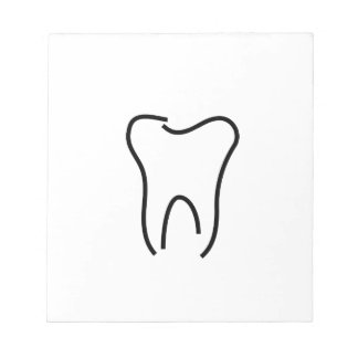 Abstract tooth graphic notepads