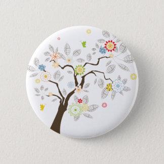 Abstract Tree 6 Cm Round Badge