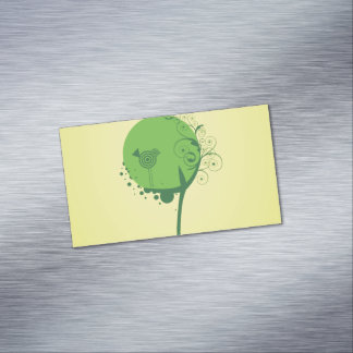 Abstract Tree Magnetic Business Cards