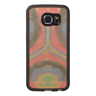 Abstract trendy pattern wood phone case