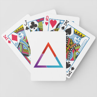 Abstract triangle bicycle playing cards