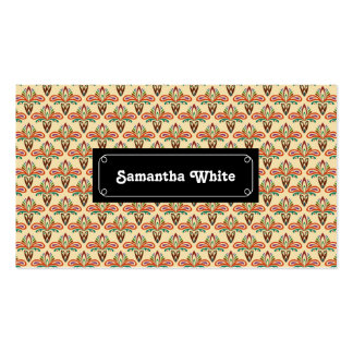 Abstract Tribal Pattern Pack Of Standard Business Cards