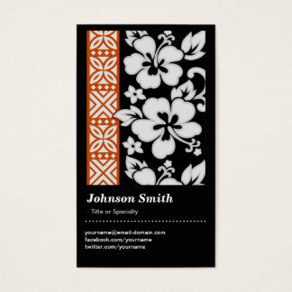Abstract Tribal Pattern - Elegant and Cute Floral Business Card