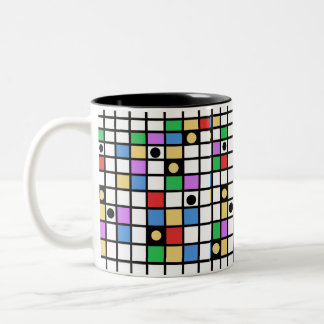 abstract Two-Tone coffee mug