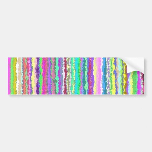 Abstract vertical colors bumper sticker