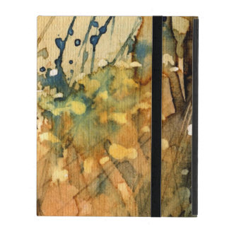 Abstract watercolor and old background iPad folio cover
