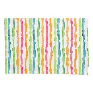 Abstract Watercolor Stripes Pillowcase