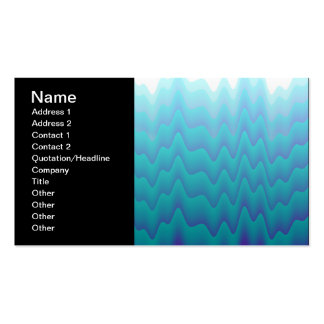 Abstract Waves Turquoise Blue Business Card Template