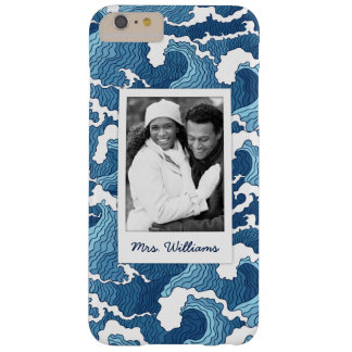 Abstract Waves | Your Photo & Name Barely There iPhone 6 Plus Case