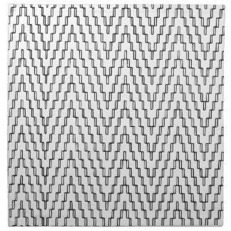 Abstract Wavy Indonesian Textile Napkin