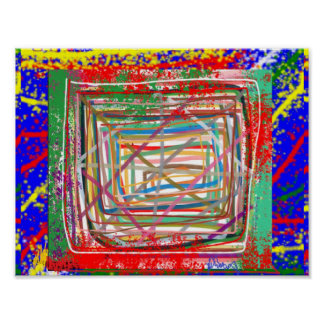 ABSTRACT :  Window Art Graphics Poster