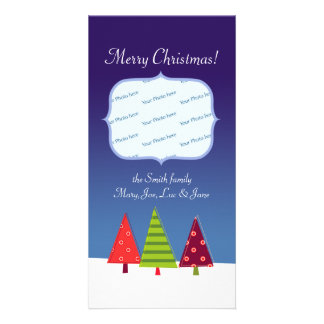 Abstract Winter Photo Card Customizable