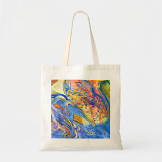 Abstract with Fish Against the Stream Tote Bag