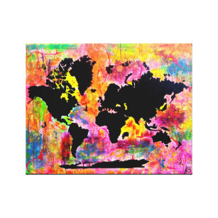 World map canvas prints wall art zazzle abstract world map canvas print gumiabroncs Gallery