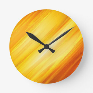 Abstract Yellow and Orange Clocks