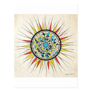 abstracted sun postcard