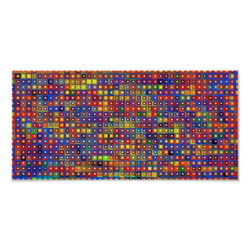 Abstraction of Squares Print