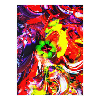 Abstractly in perfection luck - Good Luck Card