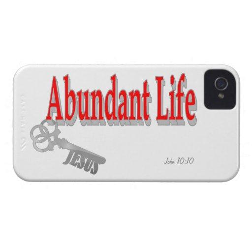 Abundant Life: The Key - v1 (John 10:10) iPhone 4 Covers